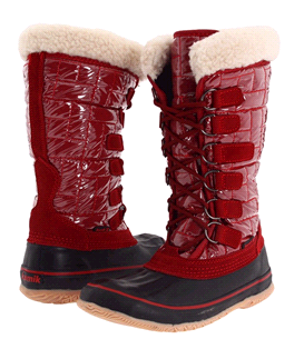 Scarlet snow boots